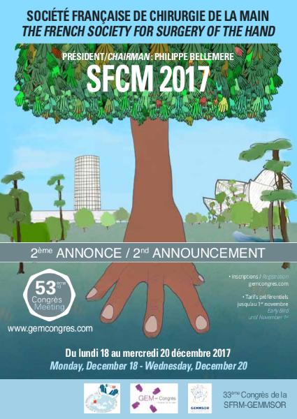 Participation du Dr Ledoux au congrès de la Société Française de Chirurgie de la Main de décembre 2017