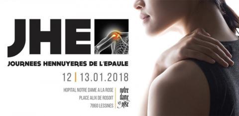 Journées Hennuyeres de l'Epaule les 12 et 13 Janvier 2018, en Belgique, par le Docteur Frédéric MATHEÏ